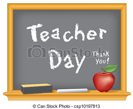 Teacher Day Thank You Illustration