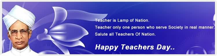 Teacher Is Lamp Of Nation Happy Teacher's Day Header Image