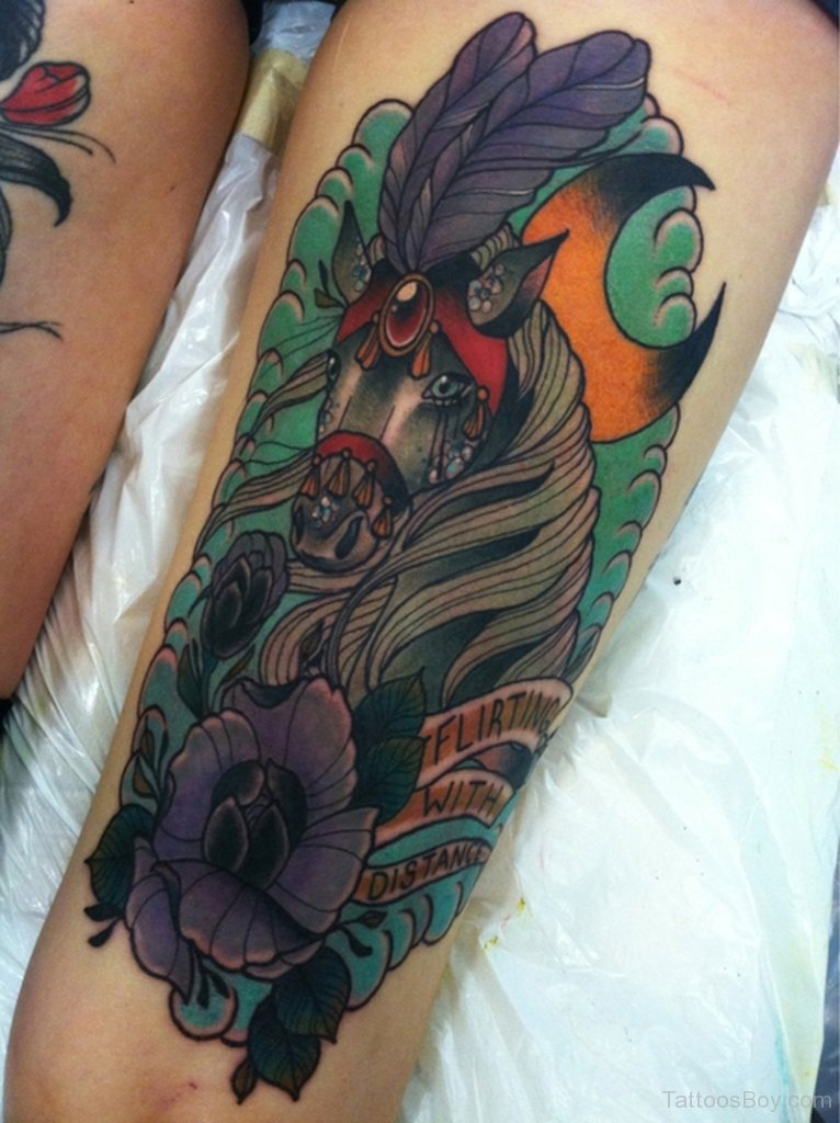 74 latest horse tattoos ideas with meaning for Horse tattoo traditional