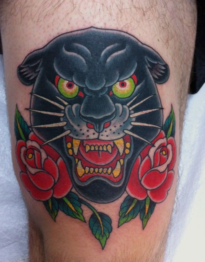 84+ Traditional Panther Tattoos Ideas With MeaningTraditional Black Leopard Tattoo