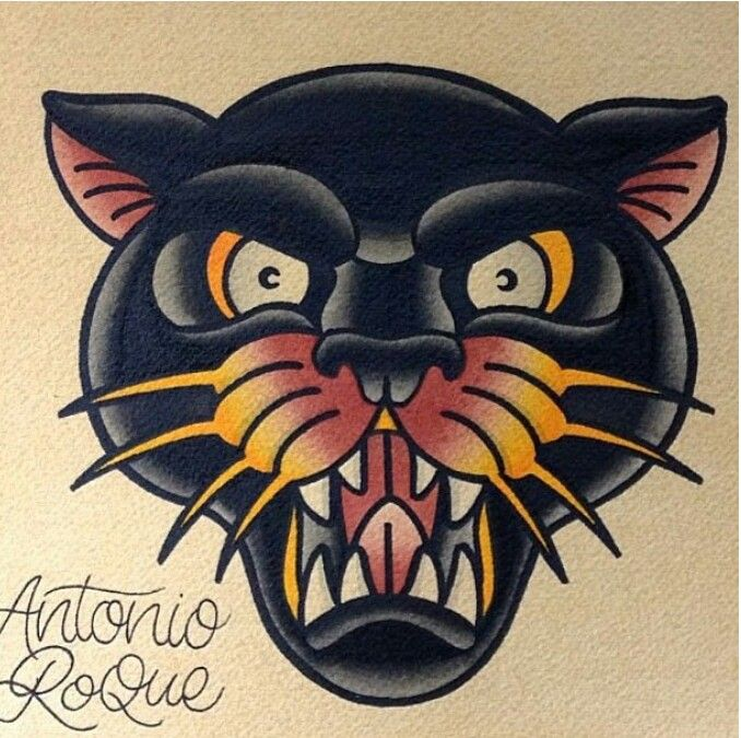 60 panther head tattoos ideas with meanings. Black Bedroom Furniture Sets. Home Design Ideas