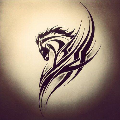 78 horse tattoos meanings and design ideas rh askideas com tribal horse head tattoos celtic tribal horse tattoos