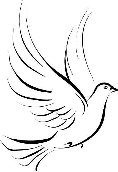 8262e78f5387a Tribal Outline Peace Dove Tattoo Design