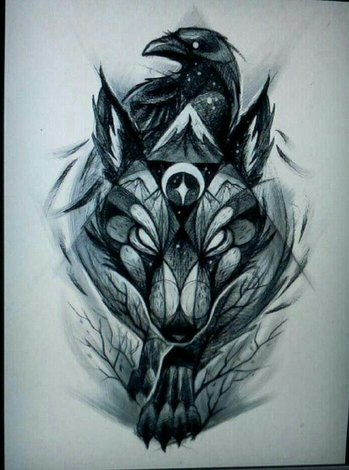 Fox and wolf tattoo meaning