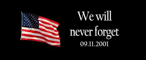 We Will Never Forget 9 11 2001 American Flag Facebook Cover