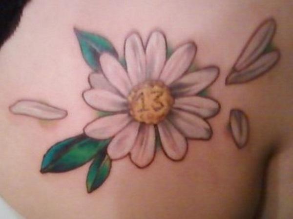 White ink daisy flower tattoo mightylinksfo