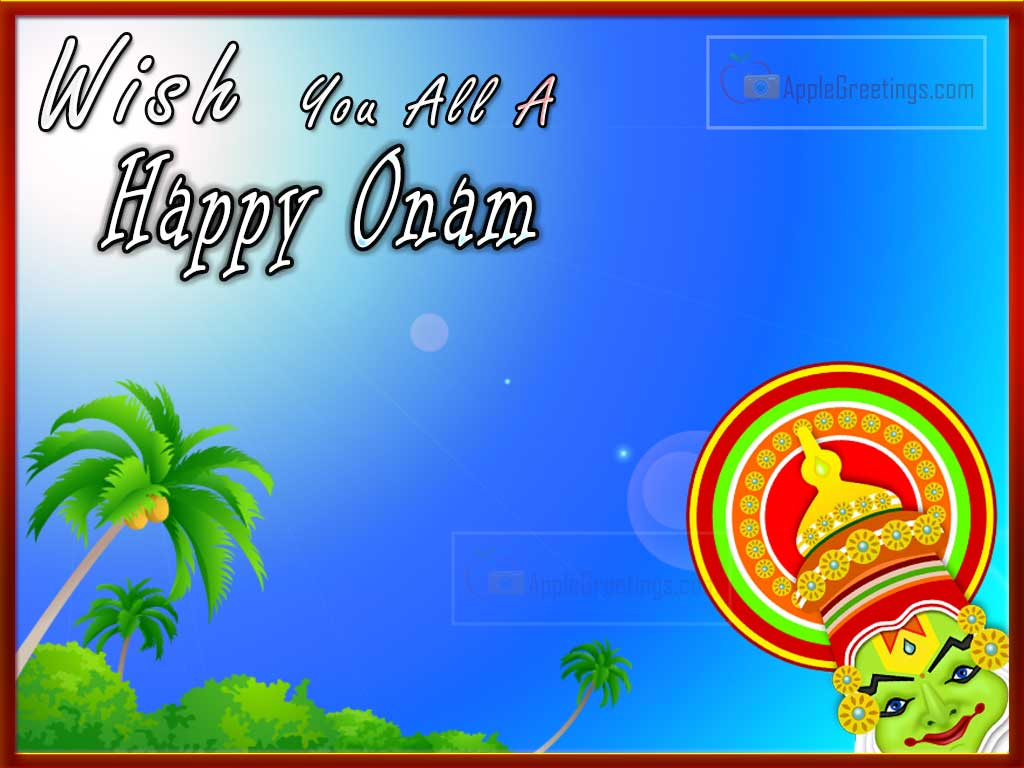Wish You All A Happy Onam Greeting Card