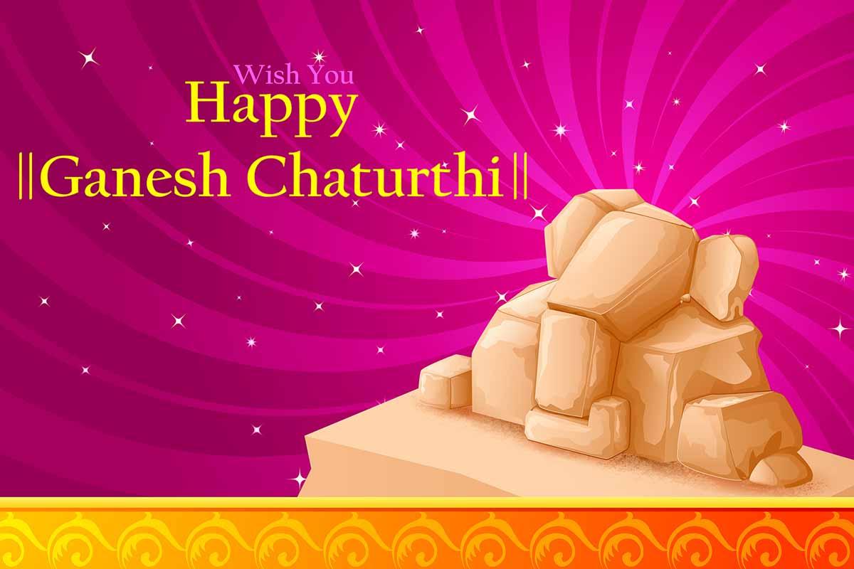 Wish You Happy Ganesh Chaturthi Greeting Card