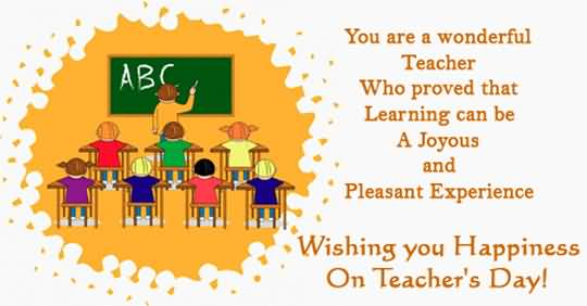 Wishing You Happiness On Teacher's Day
