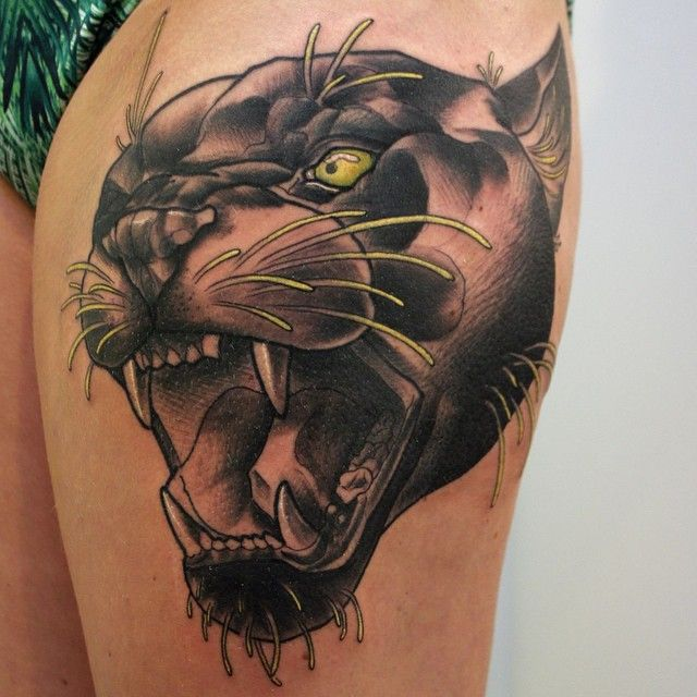 67+ Black Panther Tattoos Ideas With Meanings - photo#43