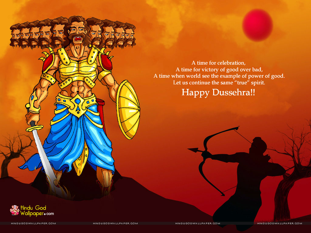 50 best dussehra 2017 greeting ideas on askideas a time for celebration a time for victory of good over bad happy dussehra kristyandbryce Choice Image