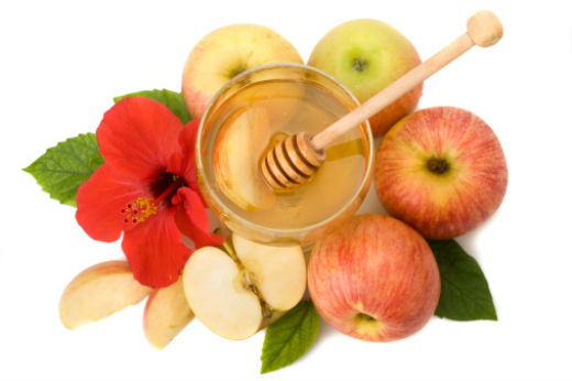 Happy Rosh Hashanah Apples Clipart