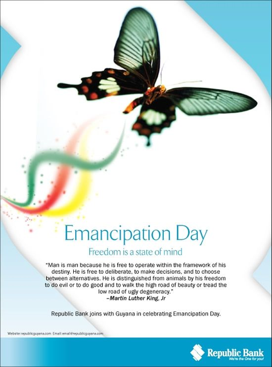 Emancipation Day Freedom Is A State Of Mind