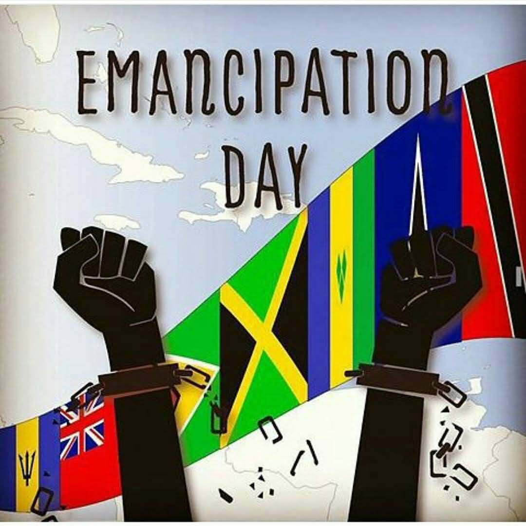 Emancipation Day Hands with broken chain