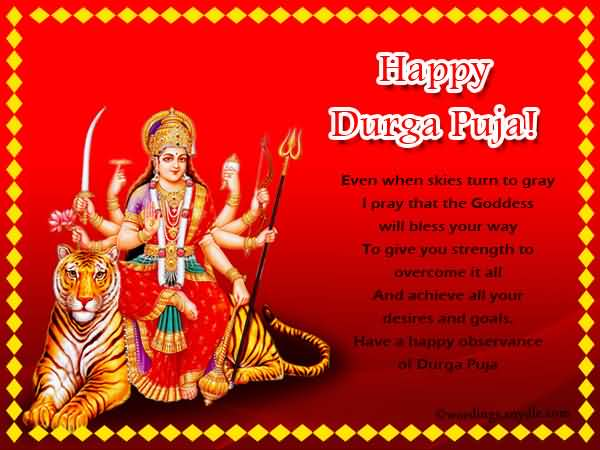 Happy durga puja greetings m4hsunfo