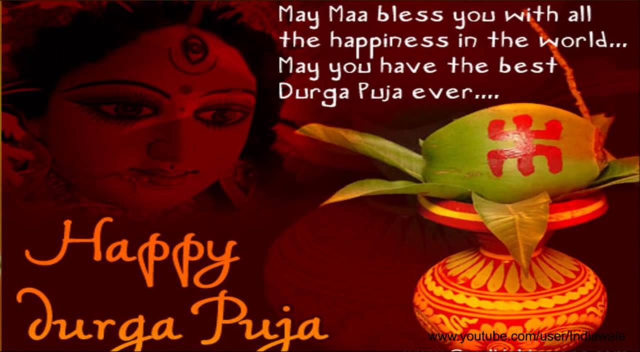 Happy durga puja may maa bless you with all the happiness in the world kristyandbryce Image collections