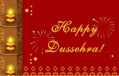 Happy Dussehra 2017 Greeting Card