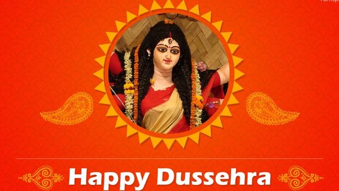 happy dussehra goddess durga image. Black Bedroom Furniture Sets. Home Design Ideas