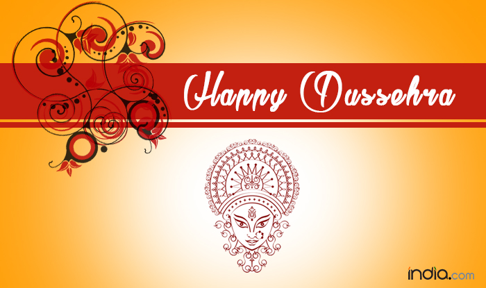 Happy dussehra greeting card m4hsunfo