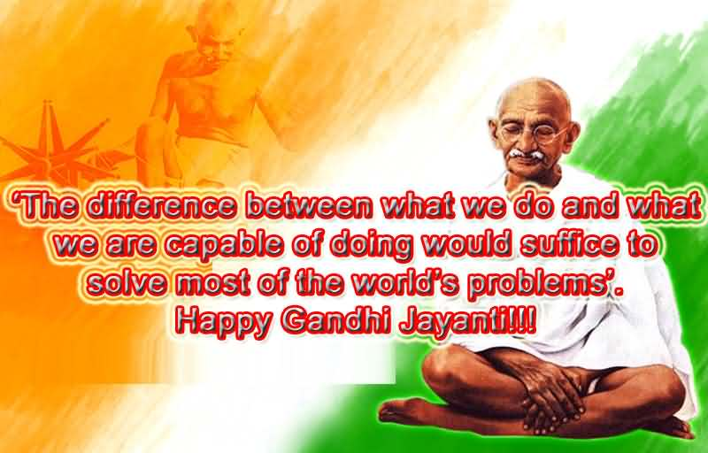 Superbe Happy Gandhi Jayanti Quote