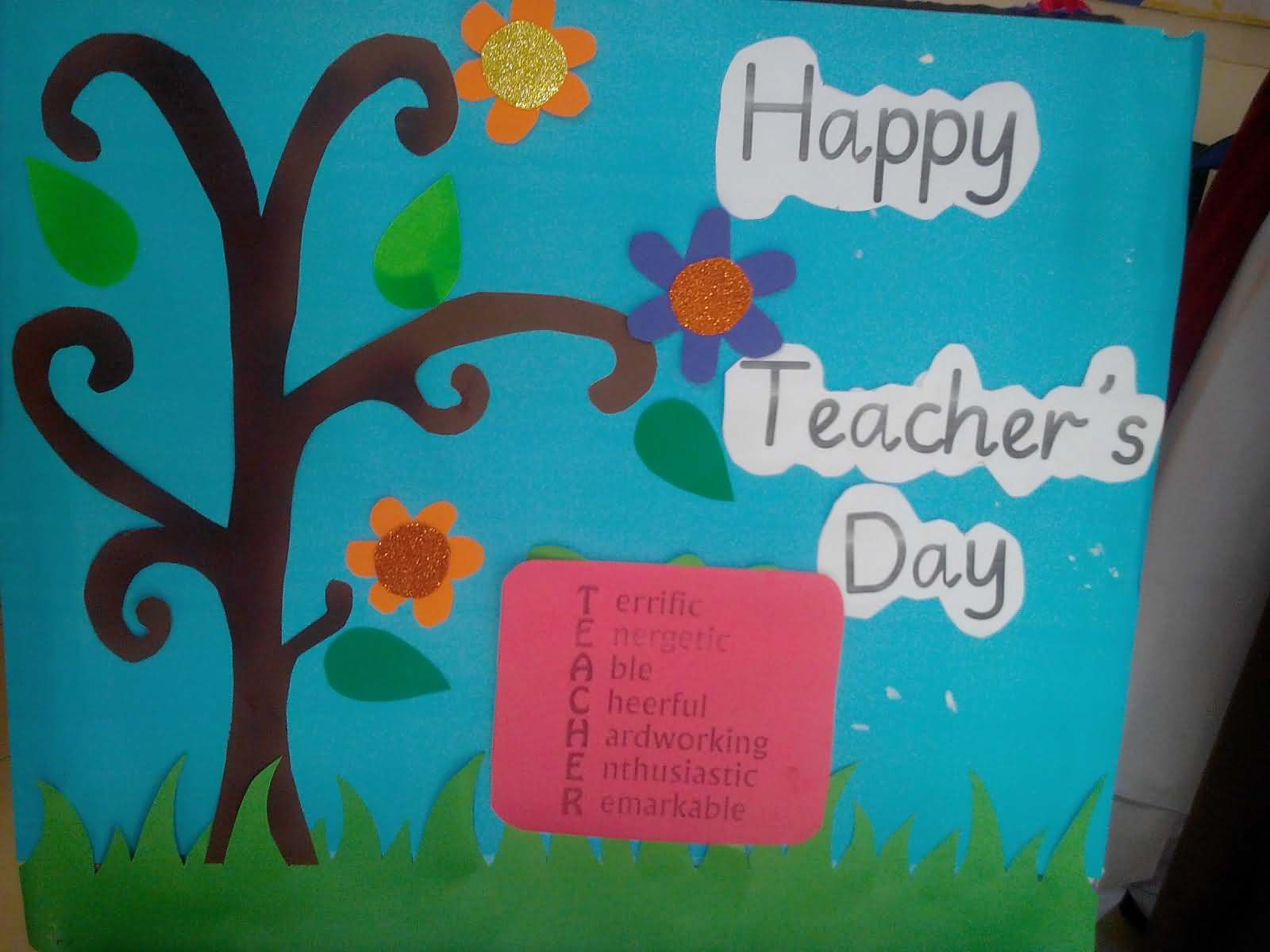 Happy Teachers Day Hand Made Greeting Card