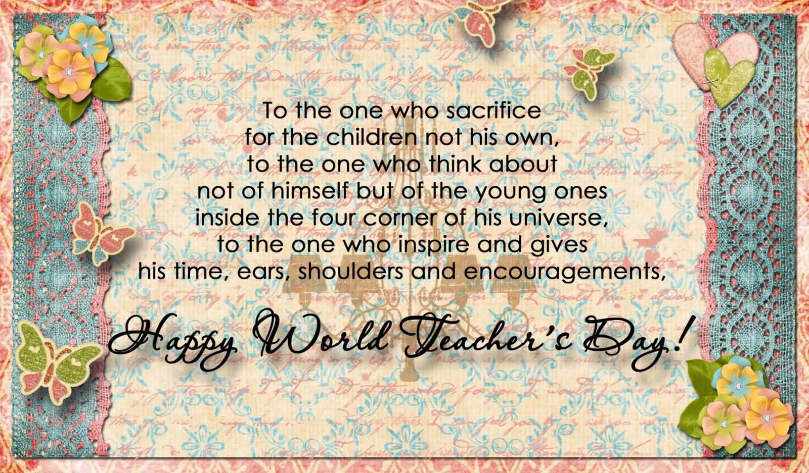 50 world teachers day wishes pictures happy world teachers day greeting card kristyandbryce Images