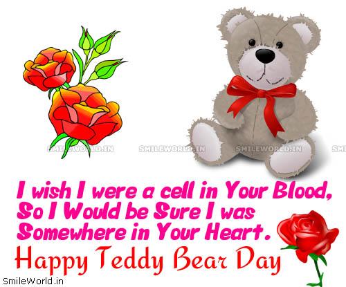 Happy teddy bear day greetings m4hsunfo