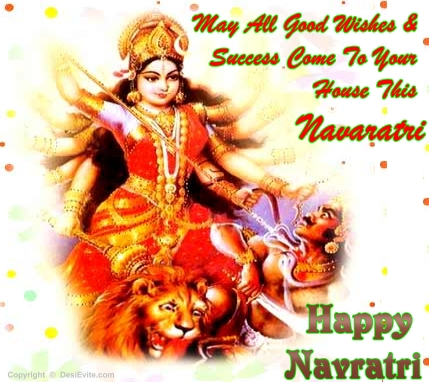 50 most amazing navratri greeting pictures on askideas may all good wishes success come to your house this navratri happy navratri greeting card m4hsunfo