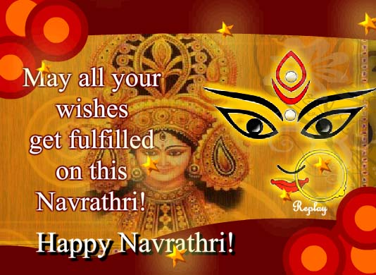 May all your wishes get fulfilled on this navratri happy navratri may all your wishes get fulfilled on this navratri happy navratri greeting card m4hsunfo