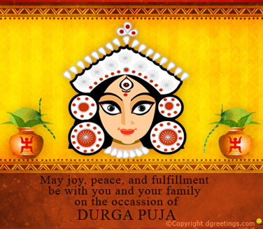 60 best durga puja greeting ideas on askideas may joy peace and fulfillment be with you and your family on the occasion of durga puja m4hsunfo