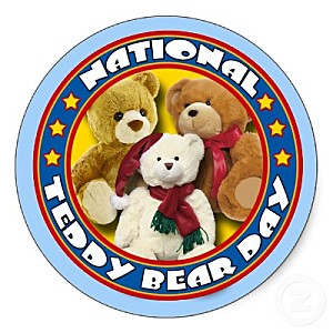 National Teddy Bear Day Badge