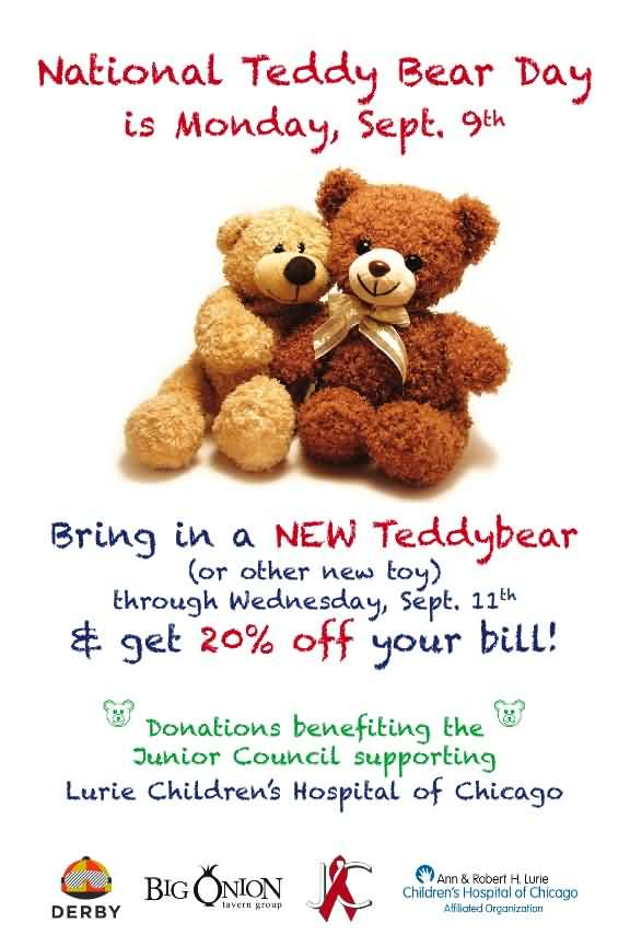 National Teddy Bear Day September 9th