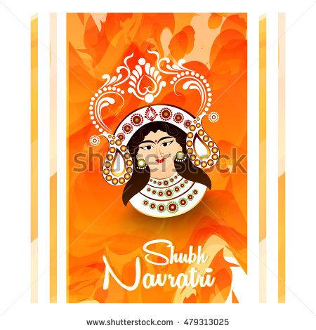 Shubh navratri greeting card m4hsunfo