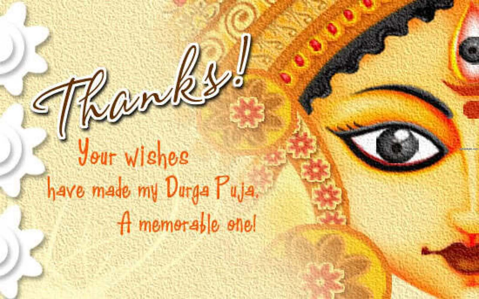 57 best durga puja wishes ideas on askideas thanks your wishes have made my durga puja a memorable one kristyandbryce Images