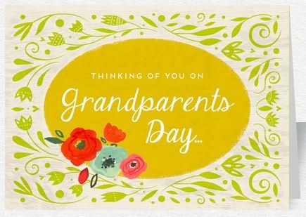 Thinking of you on grandparents day greeting card m4hsunfo