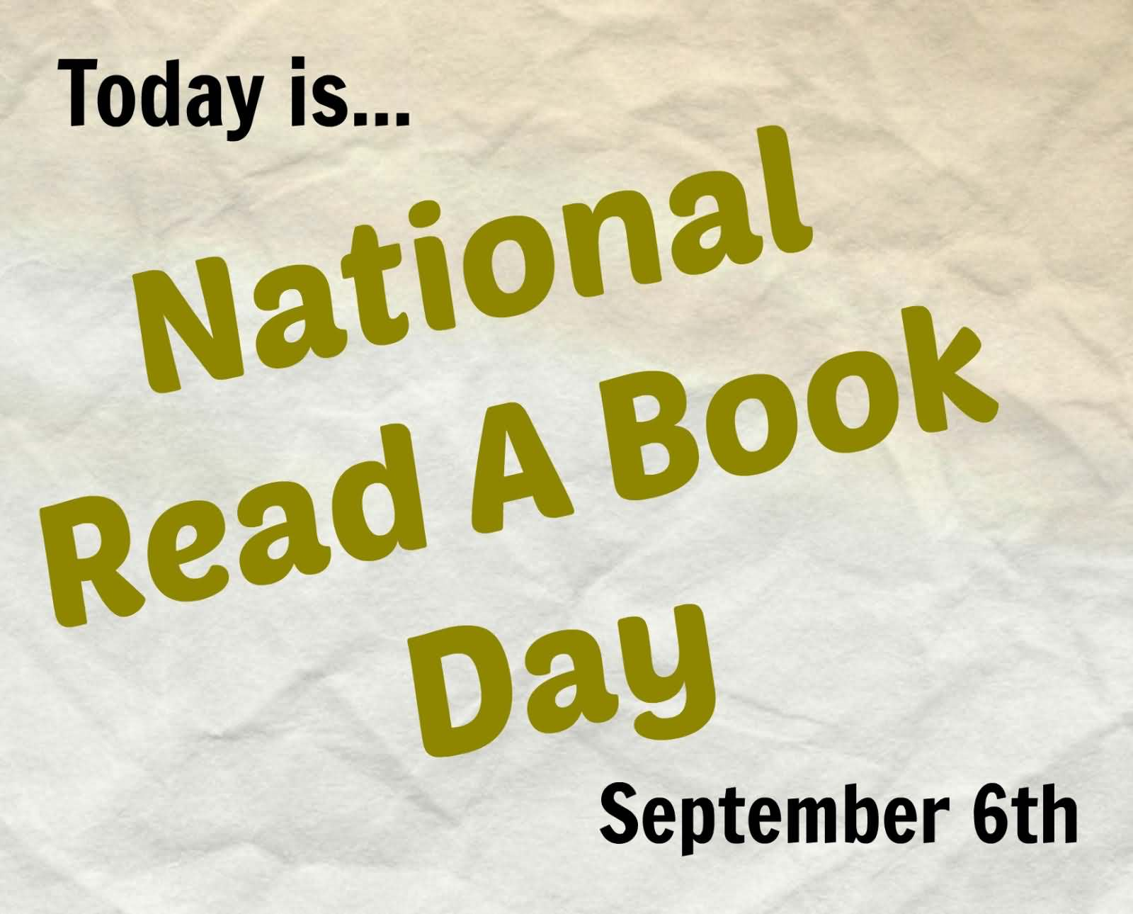 Today Is National Read a Book Day September 6th