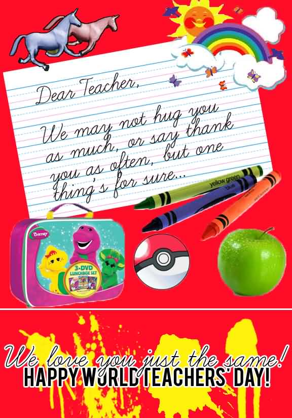 We love you just the same happy world teachers day greeting card m4hsunfo