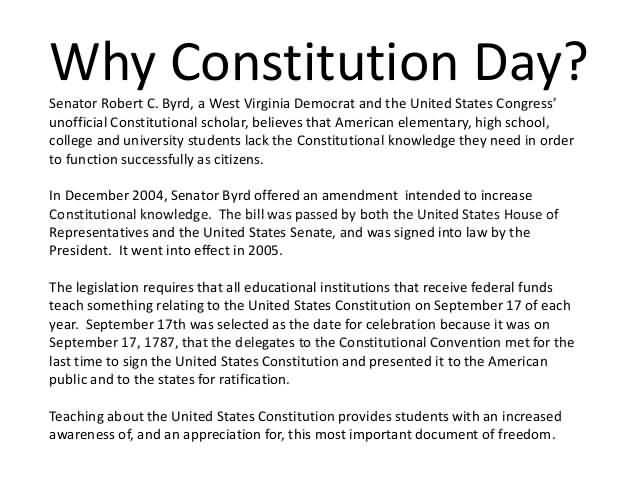why celebrate constitution day 2009 - president barack h obama's proclamation 8418 celebrating constitution  and citizenship day and designating the week of september.