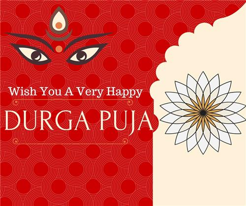 57 best durga puja wishes ideas on askideas wish you a very happy durga puja greeting card m4hsunfo