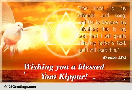 50 best yom kippur 2017 wishes ideas on askideas wishing you a blessed yom kippur flying dove greeting card m4hsunfo