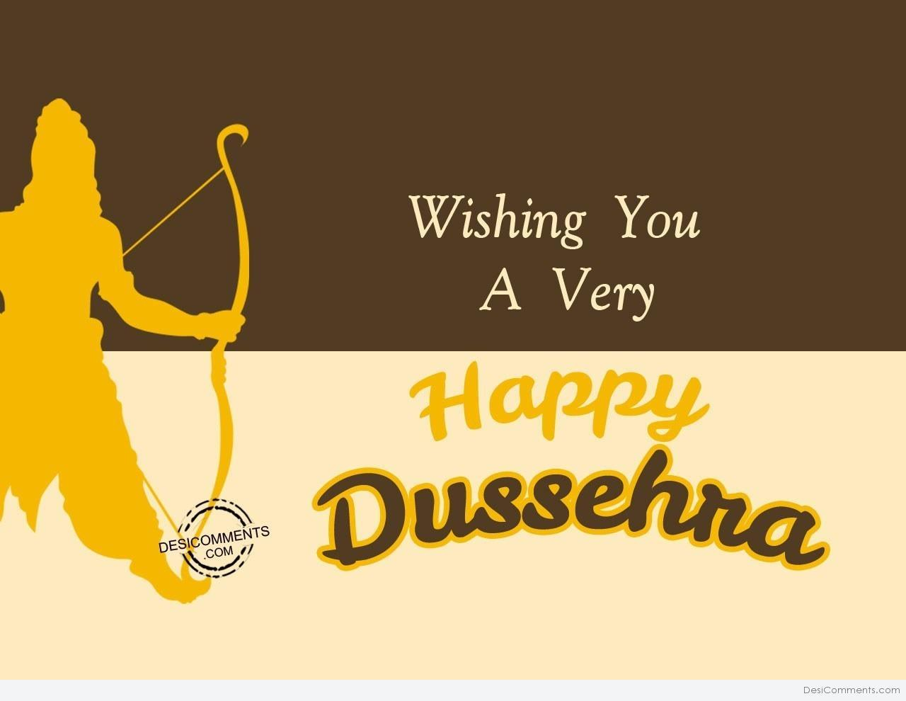 Wishing you a very happy dussehra greeting card m4hsunfo