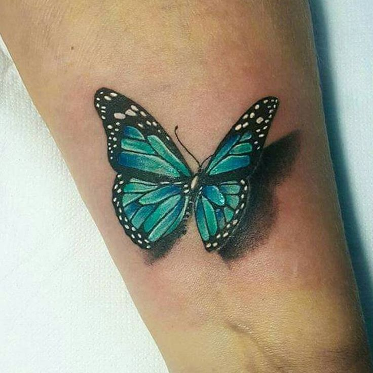 3d blue butterfly tattoo on leg. Black Bedroom Furniture Sets. Home Design Ideas