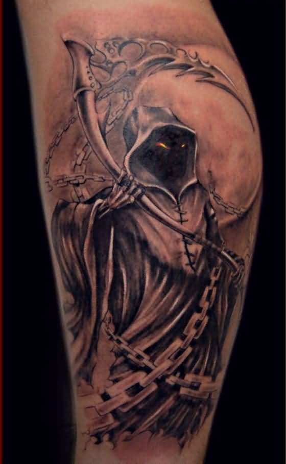 d15d08703c54b 3d dark Angel Tattoo On Sleeve