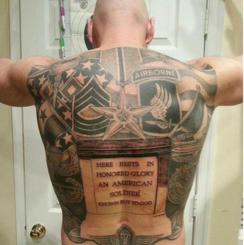 Airborne Military Tattoo On Full Back