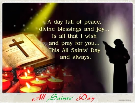 All Saint's Day A day full of peace divine blessings and joy image