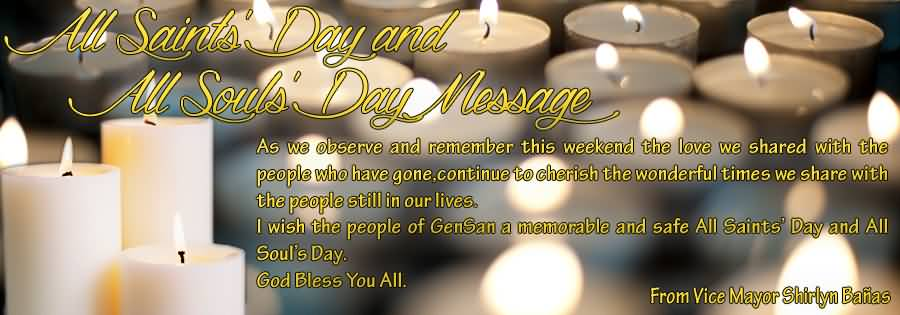 All Saints Day And All Souls Day Message