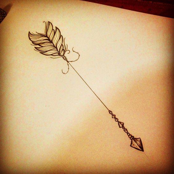 Amazing Arrow Tattoo Design For female