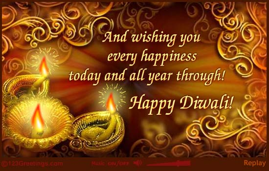 Celebrate the festival of light shubh deepawali and wishing you every happiness today and all year through happy diwali m4hsunfo