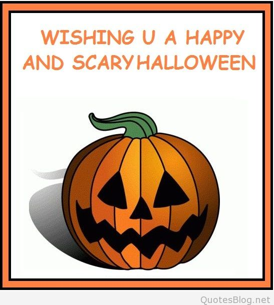 Angry Pumpkin wishing you a happy and Scary Halloween Greeting Card