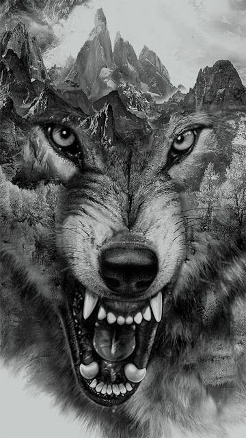 angry wolf tattoo for men and women. Black Bedroom Furniture Sets. Home Design Ideas